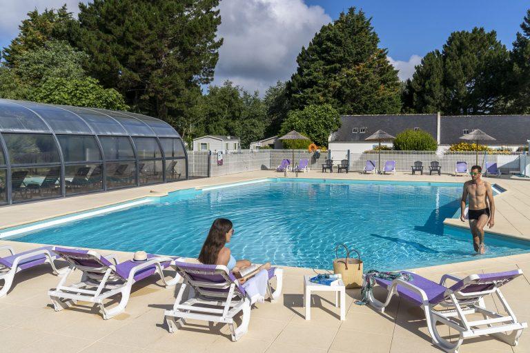 camping à Belle en mer avec piscine couverte